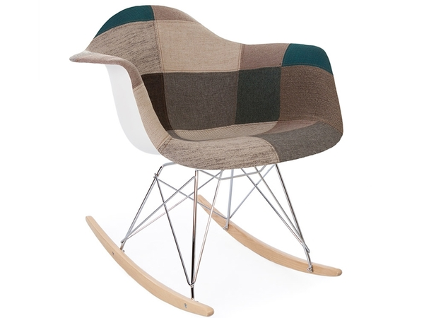 Eames rocking chair RAR - Patchwork azul